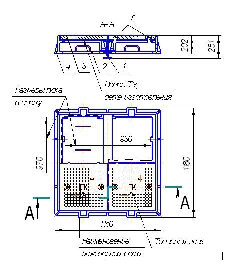 люк металлический утепленный 1000*1000 мм